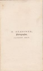 M. Reasoner, photographer of Jackson, OH - back