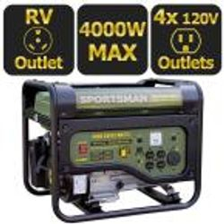 $649.99 Sportman 4,000-Watt Gasoline Powered Portable Generator with RV Outlet