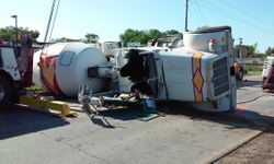 Cement Truck Rollover, 6-4-16
