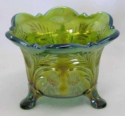 Inverted Thistle ftd nut bowl Cambridge Glass USA,