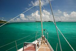 Bow deck gear - anchored in the Turks and Caicos Islands