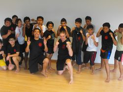 ITE College East Simei Kickboxing class
