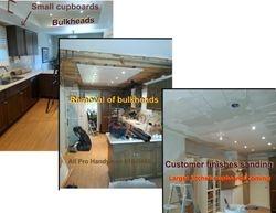 Remove bulkheads - drywall