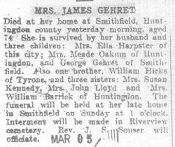 Gehret, Mrs. James 1909