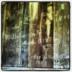 Farm History on a Wall In Chalk