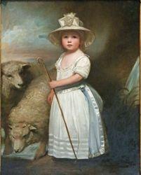 Romney, Shepherd Girl (Little Bo-Peep), 1778, Philadelphia