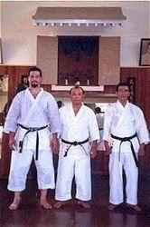 Sensei Morales with Miyazato Hanshi and Yasuda Hanshi