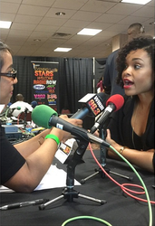 Demetria McKinney interview with Mo Ivory at UNCF - AEOS Radio Remote Room