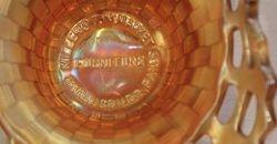 FENTON, Millers Furniture Harrisburg, open edge basket, marigold,