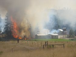 Oden Road Fire 2009