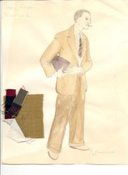 "Costume rendering for Richard, ""Hay Fever"""