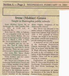 Grove, Irene Mohler 2001