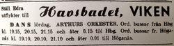 Vikens havsbad 1947