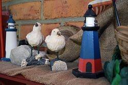 Lighthouse and Sea gulls