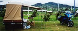 Tom's K75RT at 1995 AGM Toowoomba campsite - Mar 1995