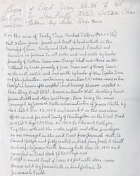 Property Deed from Jeremiah Keith to Edward Hallyer