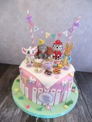 Character Tea Party Cake