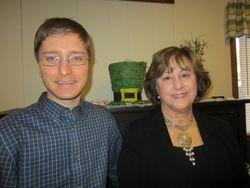 Mt.  Washington Outreach Coordinator Will Broussard and President Harriet Bicksler