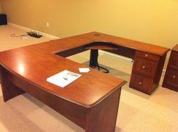 Sauder U shaped desk installation service in Washington DC