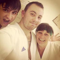 Grading selfie with Janet, Richy and sensei 2014