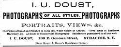 I. U. Doust, photographer of Syracuse, NY