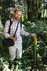 JB Leca pretending to be an ecologist in the Prapat Agung peninsula (West Bali National Park, June 2010)