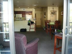 The lving room & kitchen