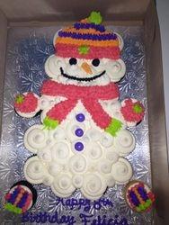 Snowman Pull apart Cake