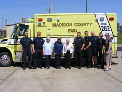 Madison House visits Madison County EMD