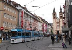 LHB tram #203 on Domstrasse
