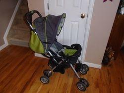 Combi Cosmo Stroller- Green/Grey/Black - $60