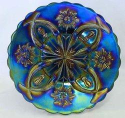 """Four Flowers Variant 11"""" CHOP PLATE, purple, Brockwitz"""