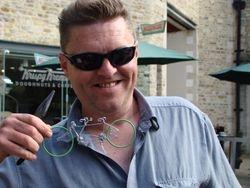 Amazing wire bike man