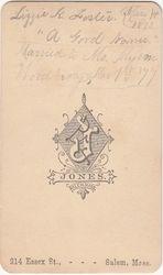 Lizzie K. Foster married Woodberry - back