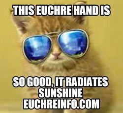 This Euchre hand is so good, it radiates sunshine.