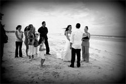 A beach wedding to remember