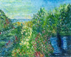 Interpretation of Corner of the Garden at Montgeron by Monet