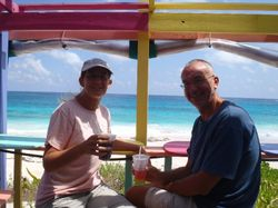 Ann and John at Nippers on Guana Cay