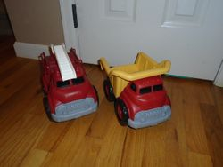 Green Toys Fire Engine and Dump Truck - $25