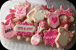 Baby Shower Custom Cookies Paris Theme Ooh la la