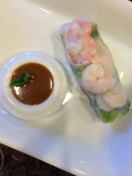 Spring Roll with Sesame Noodles & Shrimp