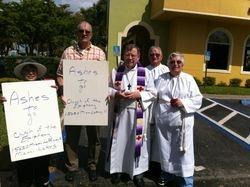 Epiphany Miami Lakes Ashes to go 2014, Rev Jack Stanton