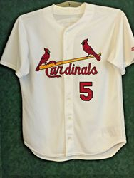 Albert Pujols St. Louis Cardinals 2001 Game Used Worn Rookie Home Jersey