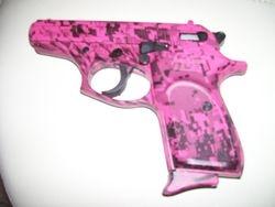 Bersa 380 in pink digital camo