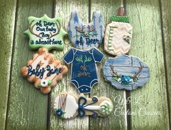 Baby Shower Custom Cookies Oh Deer theme
