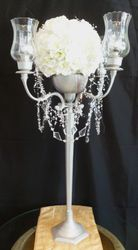 Pewter 4-branch Candelabra