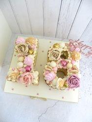 Number 18 Buttercream Cake