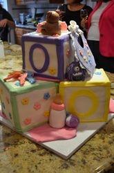Building Blocks Shower Cake