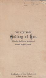 Wykes, photographer of Grand Rapids, MI - back