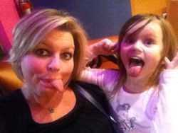 Being silly with Maddie